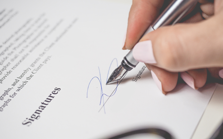A formal offer in the recruiting process needs to have a signature
